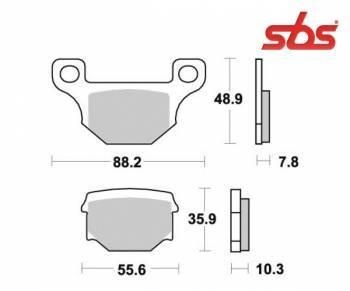 SBS -jarrupalat, ceramic, 203HF