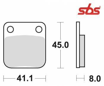 SBS -jarrupalat, sinter offroad, 536SI