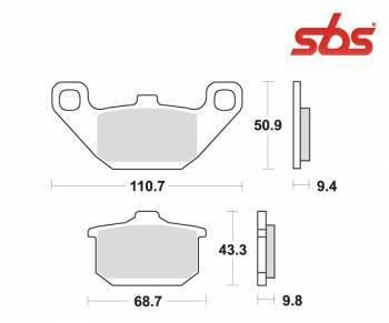 SBS -jarrupalat, ceramic, 557HF