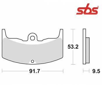 SBS -jarrupalat, ceramic taka, 571LF