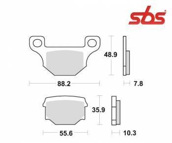 SBS -jarrupalat, ceramic, 585HF