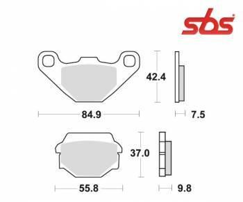 SBS -jarrupalat, ceramic taka, 586LF