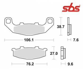 SBS -jarrupalat, ceramic taka, 615LF