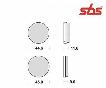 SBS -jarrupalat, ceramic taka, 617LF