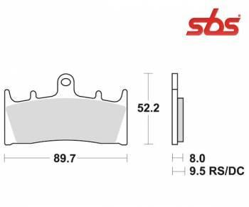 SBS -jarrupalat, sinter, 686HS