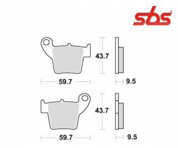 SBS -jarrupalat, sinter offroad, 777SI