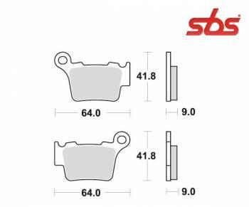 SBS -jarrupalat, sinter offroad, 791SI