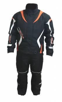 Snow Code -ajotakki+housut, musta/oranssi