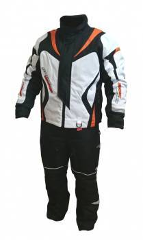 Snow Code -ajotakki+housut, valko/oranssi